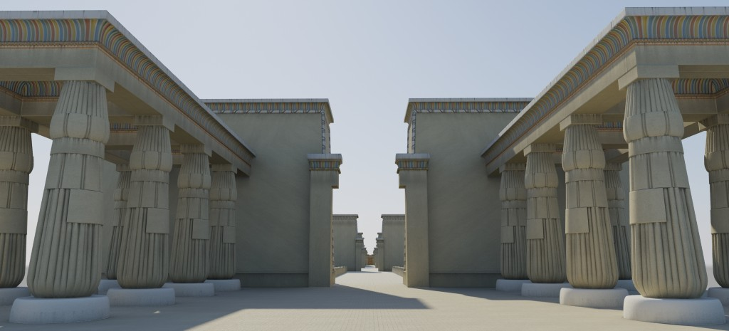 Began work on the Great Aten Temple for Amarna V2