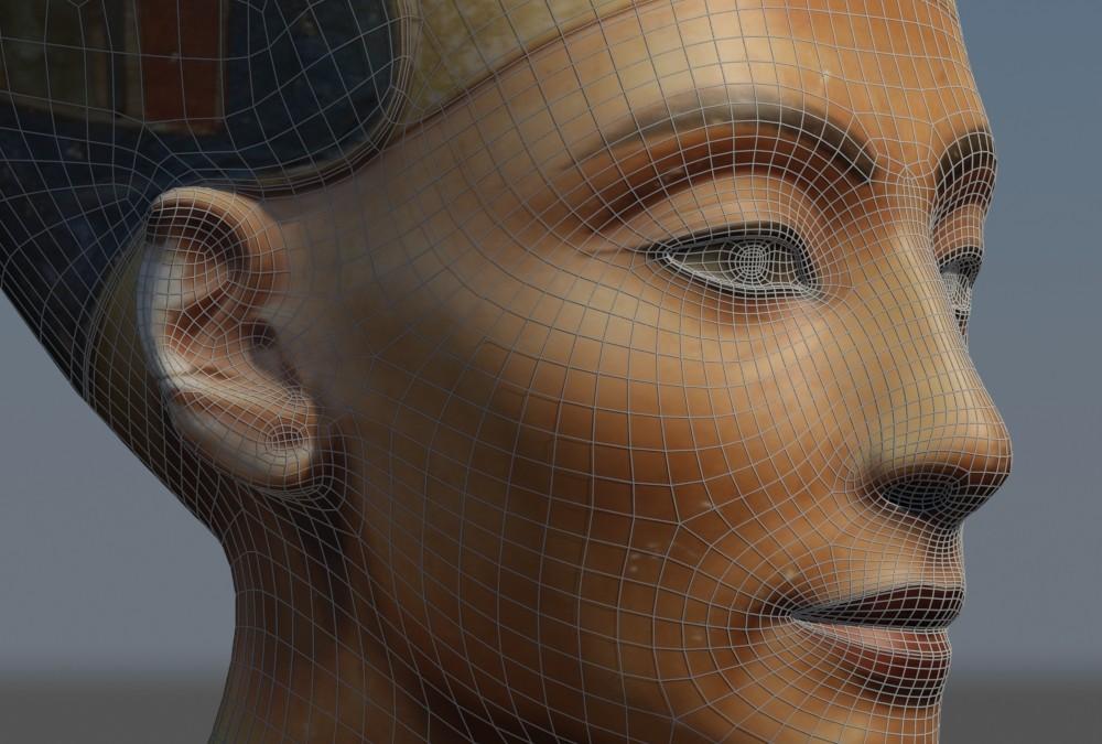 3D Reconstruction of the Bust of Queen Nefertiti