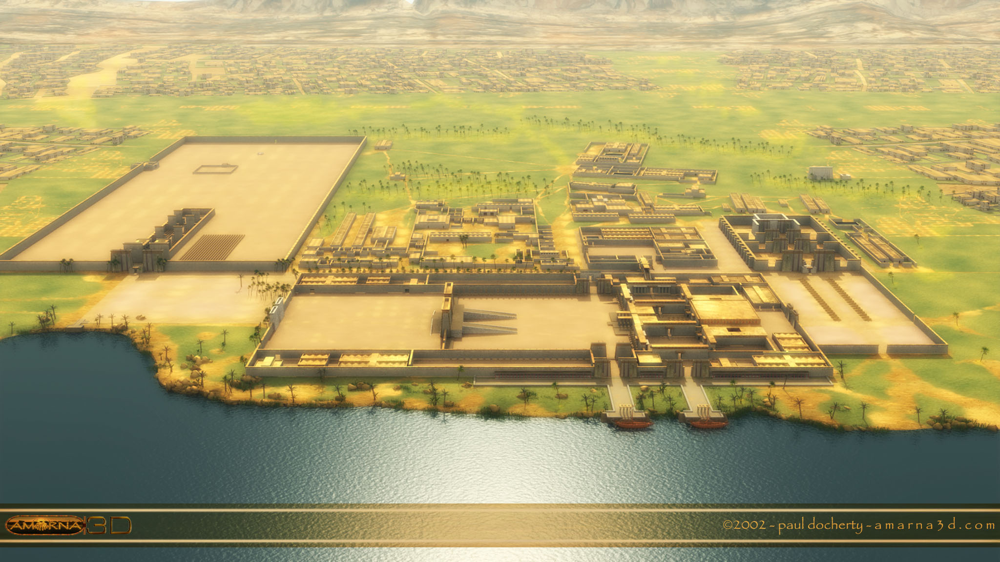 Perspective view of the early city model