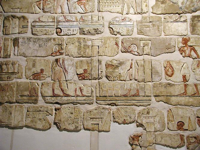 Figure 11, Talatat blocks assembled from Karnak (image Wikimedia Commons)
