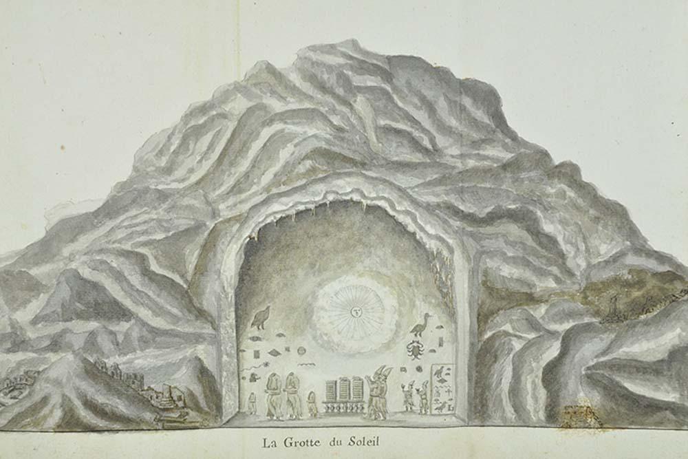 Figure 1, Sketch of Boundary Stela 'A' drawn by Claude Sicard in 1714 (van de Walle 1976)