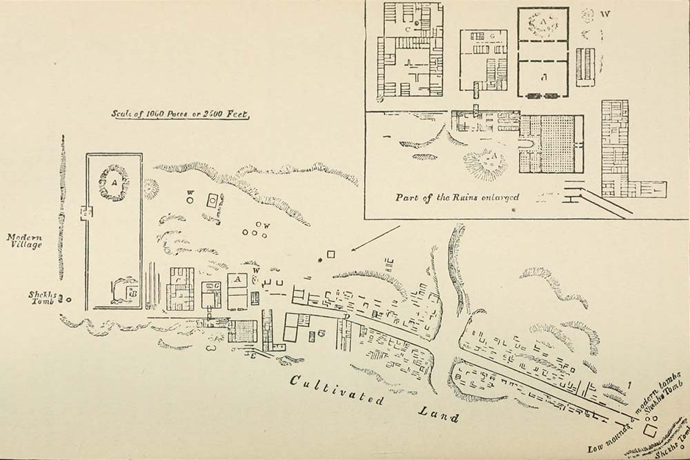 Figure 4, Wilkinson's Plan of Amarna c.1826 (Wilkinson 1847, 350, Pl. VII)