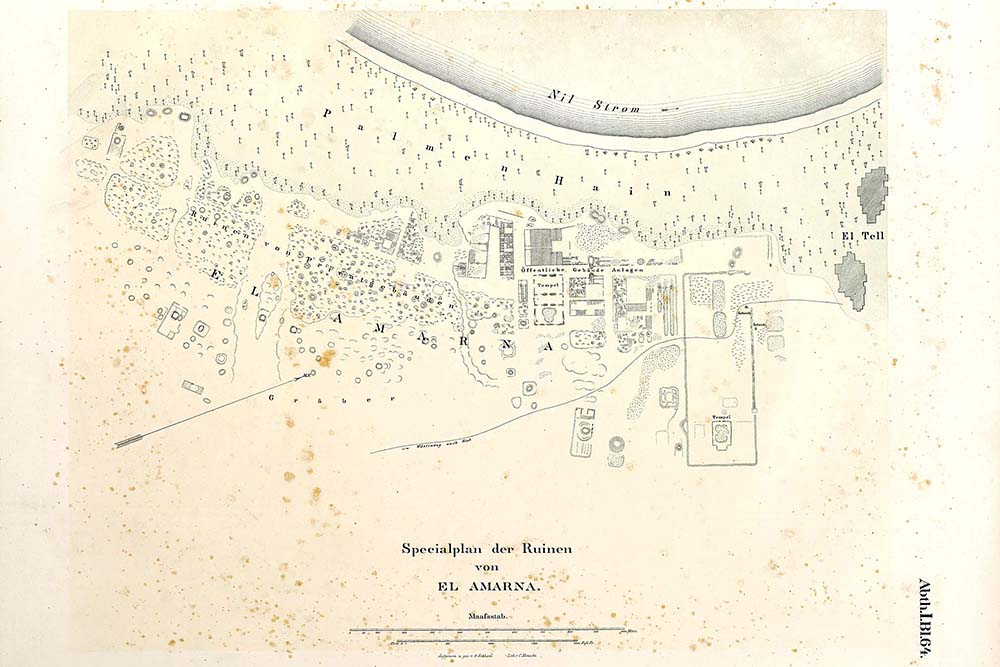 Figure 5, Plan of El-Amarna (Lepsius 1856, Abth.I.BI.64)