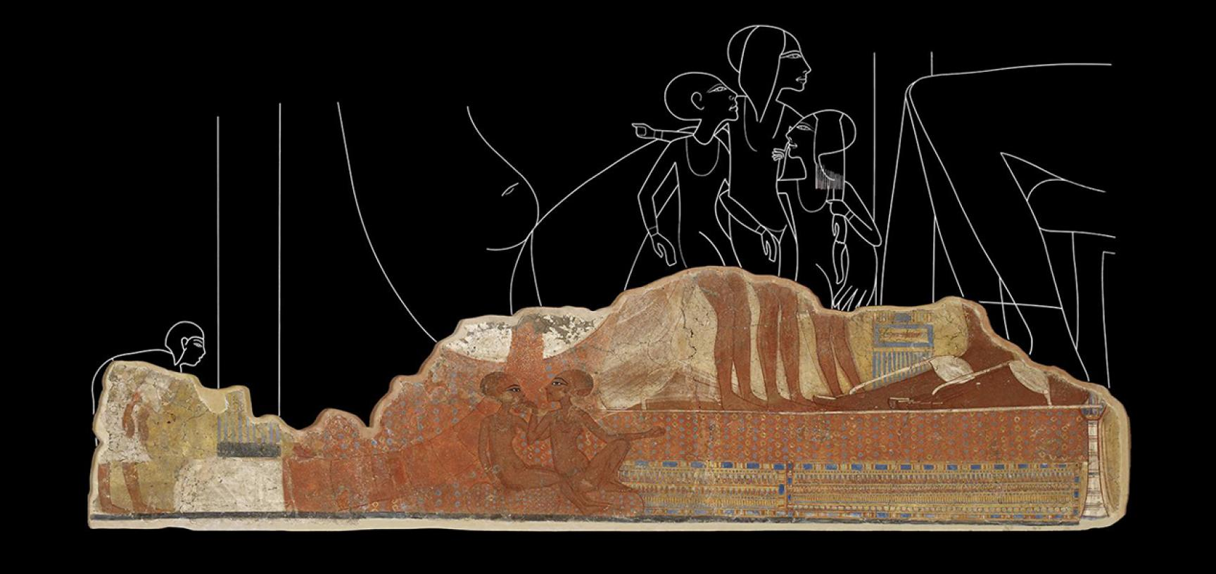 Figure 7, Princess Fresco, Tell el-Amarna, Egypt (image Ashmolean Museum, AN1893.1–41.267)